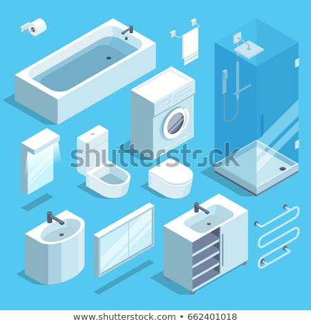 Faucet sink isometric style isolated. Vector illustration Stock photo © popaukropa