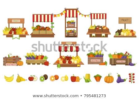 Zdjęcia stock: Zestaw · zdjęcia · inny · owoce · różny · jabłka