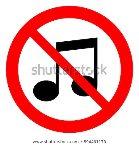 Não música assinar símbolo ícone branco Foto stock © romvo