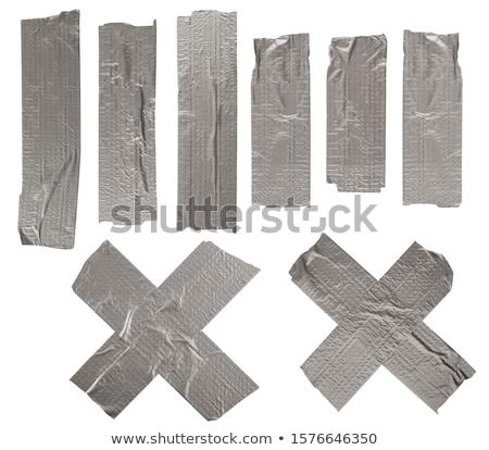 Szürke ragasztószalag zsemle fehér Stock fotó © devon