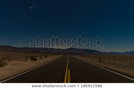 A desert road at night Stock photo © bluering