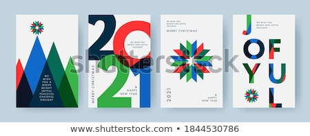Modern vector christmas card template with tree Stock photo © orson