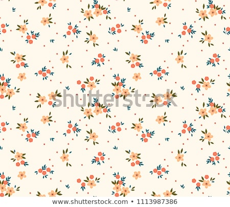 Tiny red color floral seamless simple vector pattern. stock photo © yopixart