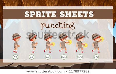Sprite sheet boy punching Stock photo © bluering