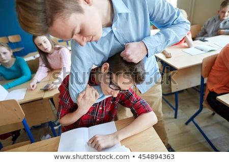 Stock fotó: Diák · fiú · szenvedés · osztálytárs · oktatás · megfélemlítés
