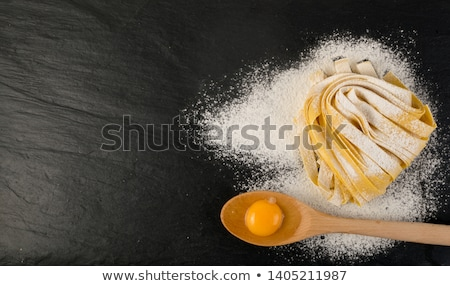 Fresh egg pasta tagliatelle Stock photo © Melnyk