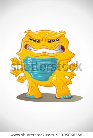 Amarelo monstro furioso isolado eps vetor Foto stock © chocolatebrandy