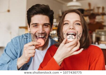 Portret gelukkig paar man vrouw dating Stockfoto © deandrobot