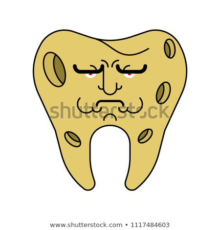 Sad Tooth with hole. sick tooth. Caries and pulpitis Toothache V Stock photo © MaryValery