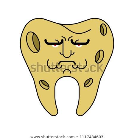 Triste dente buraco doente dor de dente médico Foto stock © MaryValery