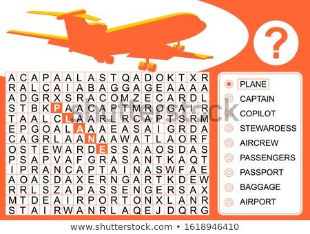 Varázsige angol szó repülőgép illusztráció iskola Stock fotó © bluering