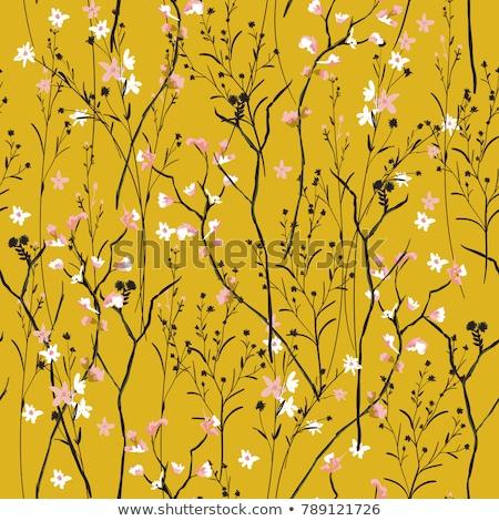 Vintage seamless pattern tile of retro floral art Stock photo © cienpies