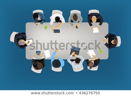 Business Meeting Banners with People around Table Stock photo © robuart