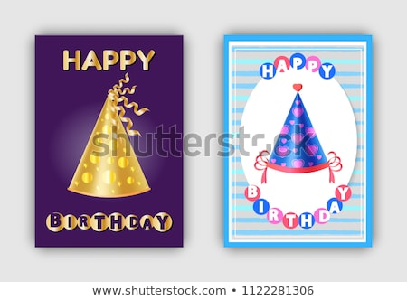 Happy Birthday Magic Hats Carnival Headwear Vector Stock photo © robuart