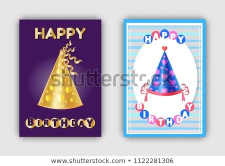 happy birthday magic hats carnival headwear vector stock photo © robuart
