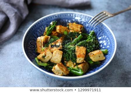 Tofu and broccoli stir-fry Stock photo © Alex9500