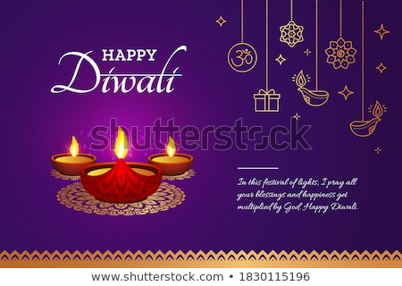 ethnic style happy diwali golden background Stock photo © SArts