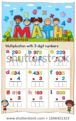 oneven · nummers · illustratie · kinderen · kind - stockfoto © colematt