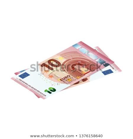 пару 10 евро белый изолированный Сток-фото © Evgeny89