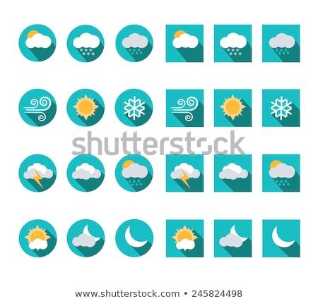 Overcast vector flat icon Stock photo © smoki
