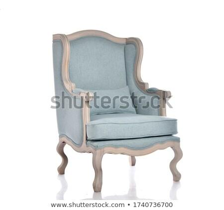 современных синий мягкой кресло интерьер Сток-фото © MarySan