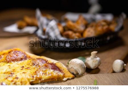 деревенский Паб продовольствие пиццы корзины Сток-фото © lovleah