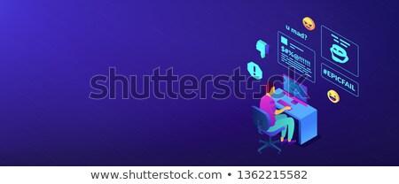 Internet szalag fejléc cél egyéni laptop Stock fotó © RAStudio