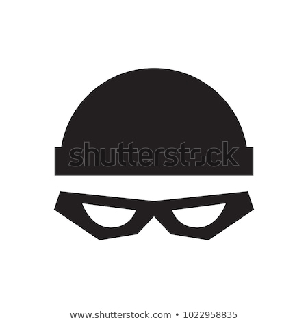 Cartoon Burglar Sign Stock photo © cthoman
