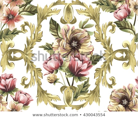 Abstract vintage seamless damask pattern. Rose gold Stock photo © fresh_5265954