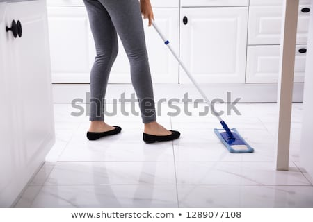 Low Section Of Woman Washing Floor Stock photo © AndreyPopov