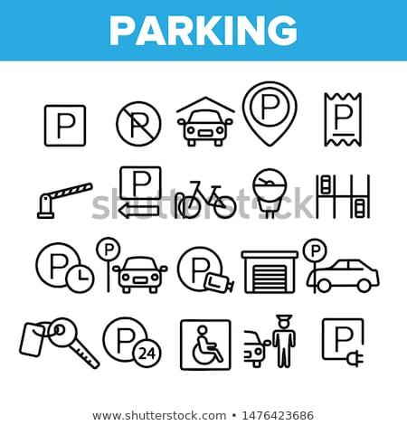 Vector icon parkeren logo symbool Stockfoto © blaskorizov
