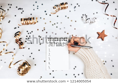 Top view 2019 new years plan Stock photo © neirfy