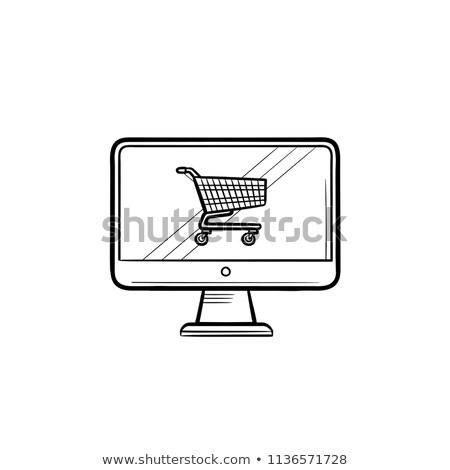mobile · commerce · app · shopping · online · mano - foto d'archivio © rastudio