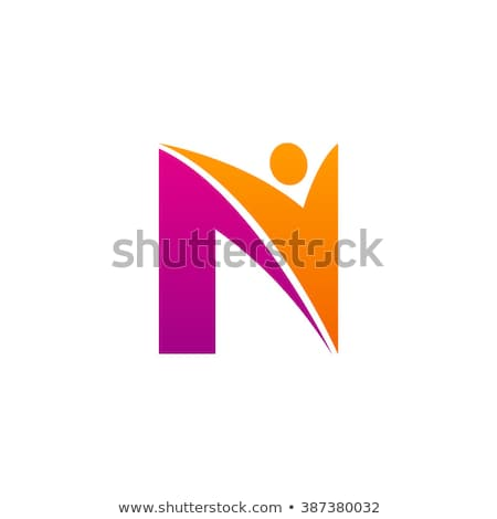 man letter n logo vector design icon symbol Stock photo © blaskorizov