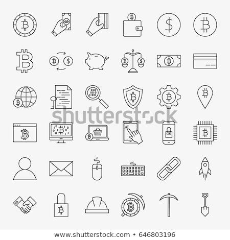 Bitcoin Cryptocurrency Digital Art Icon Vector Stock photo © robuart