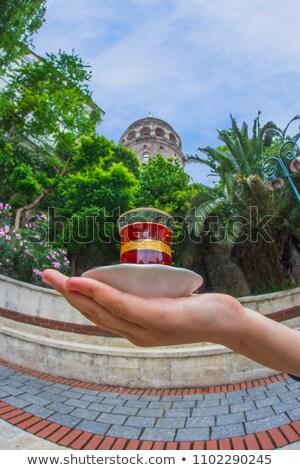 tea and galata tower stock photo © givaga