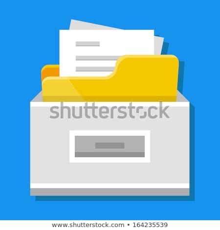 File Cabinet Flat Vector Icon Stock photo © smoki