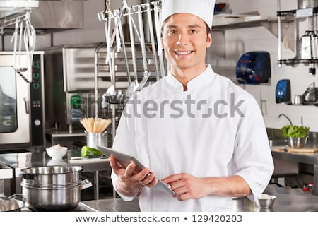 chef · kok · restaurant · keuken · koken - stockfoto © dolgachov