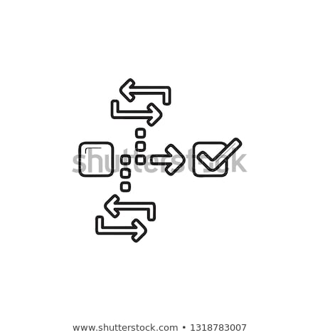 Agile project management hand drawn outline doodle icon. Stock photo © RAStudio