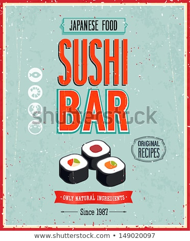 vetor · vintage · sushi · restaurante · menu · ilustração - foto stock © netkov1