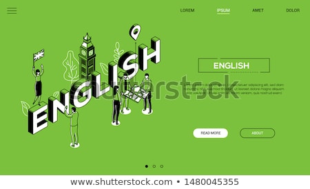 Tourism - line design style vector web banner Stock photo © Decorwithme