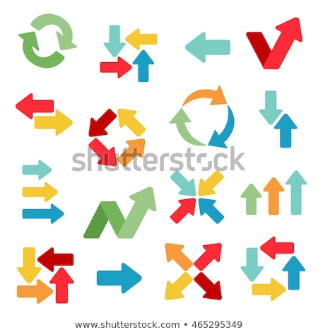 arrows and correspondence pointers set vector stock photo © robuart