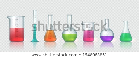 Realistic Empty Chemical Laboratory Flask Vector Сток-фото © pikepicture