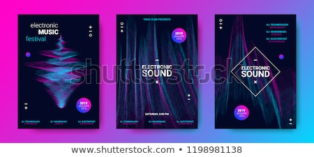 Muzyki korektor strony plakat imprez dance Zdjęcia stock © alexaldo