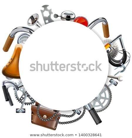lánc · keret · izolált · fehér · biztonság · acél - stock fotó © dashadima