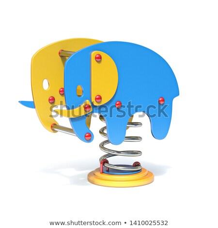 Elefante primavera swing 3D illustrazione Foto d'archivio © djmilic