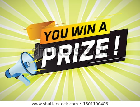 Prize draw concept landing page. Stock photo © RAStudio