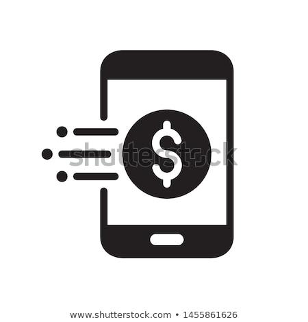 Komórkowej komunikacji online płatność stronie wektora Zdjęcia stock © robuart
