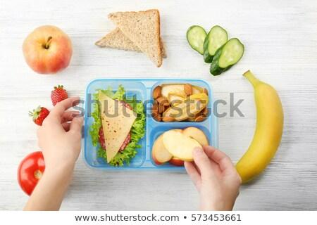 Cuadro azul alimentos saludables espacio de la copia Foto stock © Melnyk