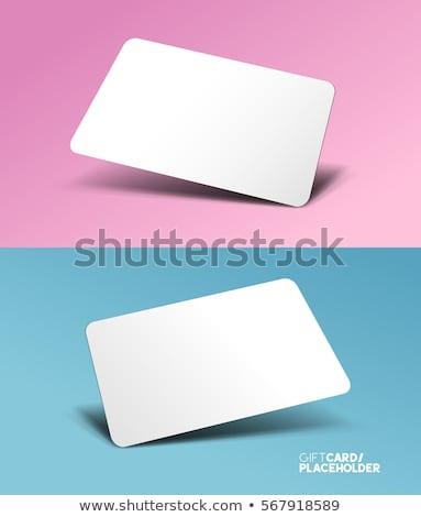 Geschenkkarte Förderung Strategie Geschenk Gutschein Ermäßigung Stock foto © RAStudio
